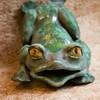 """Frog Gargoyle.  8""""h x5""""w x 5""""d, midfire clay."""
