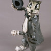 "1930's Cartoon TyTy. 19""h x 13""w x14""d; raku. (NFS)."
