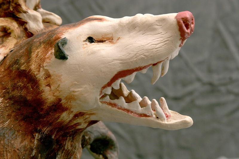 "Opossum Family.  12""h x18""w x 25""d."