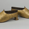Armored shoes with koftgari decoration