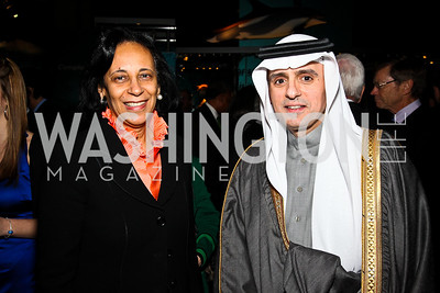 Oman Amb. Hunaina Al-Mughairy, Saudi Arabia Amb. Adel A. Al-Jubeir. Arabia 3D Screening. Photo by Tony Powell. Museum of Natural History. March 1, 2011