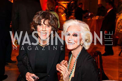 DeDe Cutler, Carmen Dell'Orefice. Arabia 3D Screening. Photo by Tony Powell. Museum of Natural History. March 1, 2011