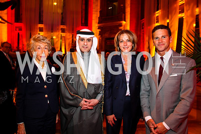 Ina Ginsburg, Saudi Arabia Amb. Adel A. Al-Jubeir, Elizabeth Duggal, Illinois Rep. Aaron Schock. Arabia 3D Screening. Photo by Tony Powell. Museum of Natural History. March 1, 2011