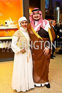 Princess Sara bint Saud bin Saad Al Saud and  Prince Abdul-Aziz bin Talal bin Abdul-Aziz Al Saud. Arabia 3D Screening. Photo by Tony Powell. Museum of Natural History. March 1, 2011