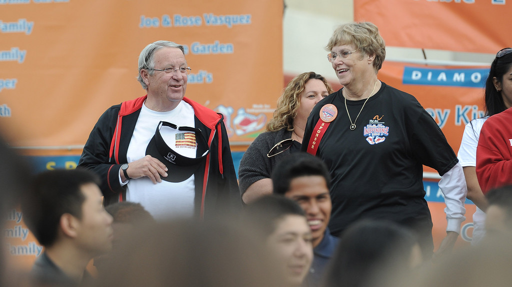 . Los Angeles County Supervisor Don Knabe at the Arc Walk for Independence at the Stonewood Center in Downey, CA. on Saturday March 22, 2014. (Photo by Sean Hiller/ Daily Breeze).