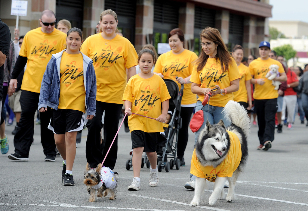 . The Arc Walk for Independence at the Stonewood Center in Downey, CA. on Saturday March 22, 2014. (Photo by Sean Hiller/ Daily Breeze).