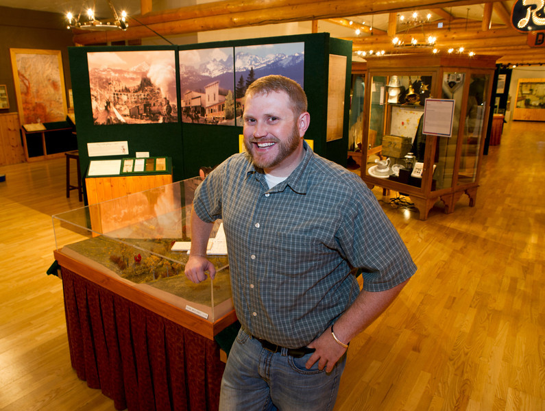 Nathan Doerr stands inside the Sheridan County Museum Tuesday, June 4, 2013.