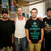 The team at Your Moms Favorite Tattoo Parlor, from left, Jesse Racheff, owner Robert Benson (Free Hand Rob), and his son Robert Benson Jr. (Second Hand Rob), and Kaleb Grosso.