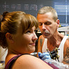 Free Hand Rob runs the tattoo machine on Cally Hoyt-Unger Friday at Your Moms Favorite Tattoo Parlor.