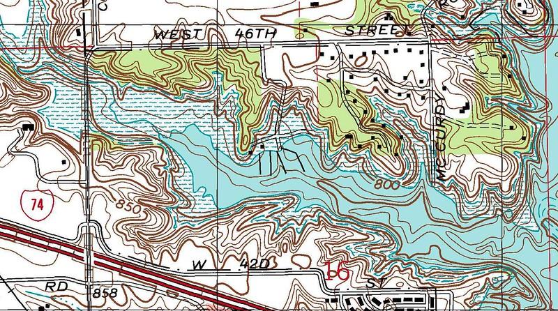 Topo Quad Detail from Clermont USGS Quad.