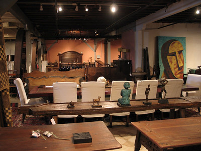 artmosphere wearhouse always full of all sort of objects of all shapes and size and originals mostly altered, refinished, redesigned by Julian Maison or Marcel Maison.