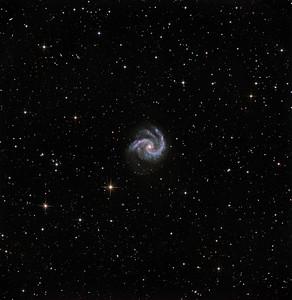 NGC 5247, original version, oversharpened. See adjacent image for more natural processing.