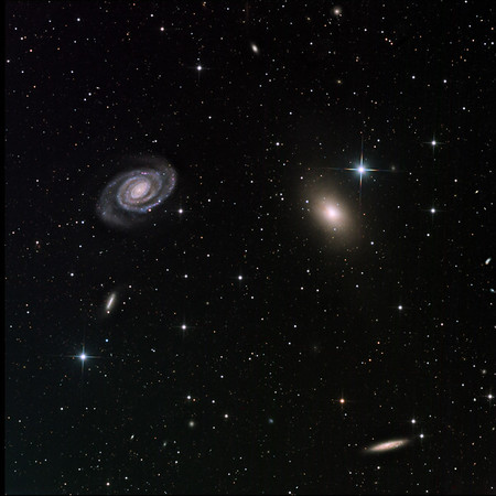 Two strongly contrasting galaxies, NGC 6363 and 5364 in Virgo.