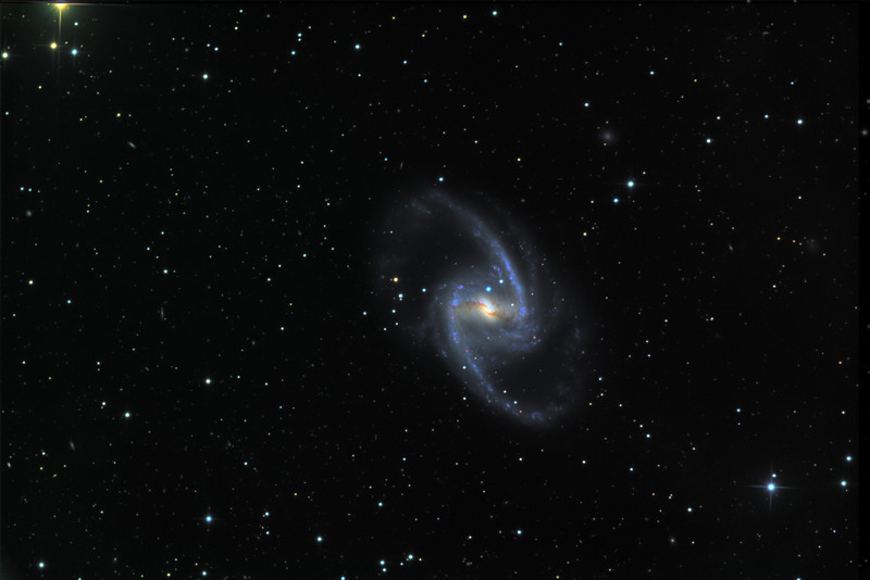 NGC 1365, a beautiful face-on barred spiral showing the 2012 supernova