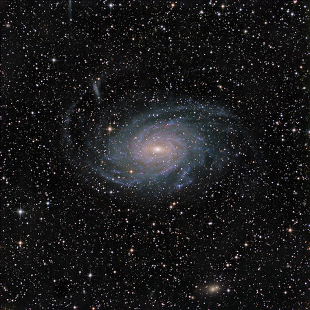 "NGC 6744 in Pavo.  Lum 16.5hrs, RGB 2.5 hrs each, all in 30 mi subs.  Aspen CG16M on 20"" PlaneWave."
