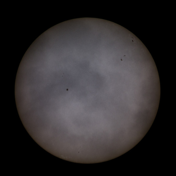 Cloudy Sun July 28th, 2013