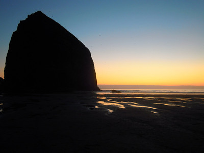 Sunset with Haystack Rock, Cannon Beach, Or