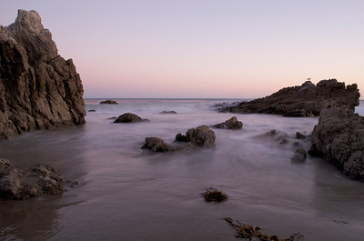 Rocky beach front at Leo Carrillo State Beach, Malibu, CA