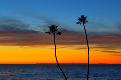 Twin Palms at sunset, San Clemente, CA