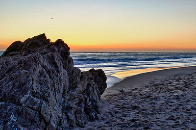 Sunset along Leo Carrillo State Beach, Malibu, CA