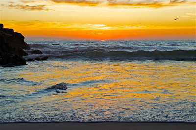 Reflections of a sunset, Ventura, CA