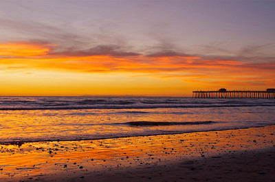 Sunset with San Clemente pier, CA