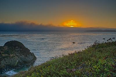 Sunset in San Simeon, CA