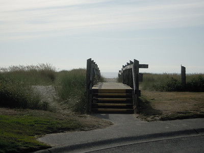 Steps to the beach, in Cannon Beach, Or