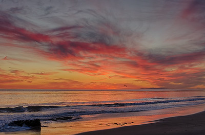Sunset over Leo Carrillo State Beach