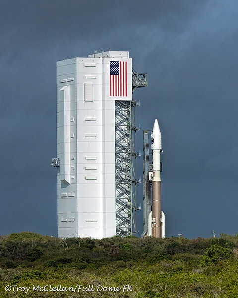 Atlas V MMS Rocket Rollout from VIF at Launch Complex 41 at Cape Canveral Air Forces Station