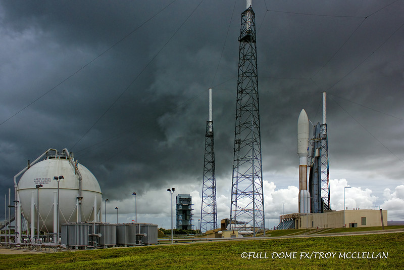 Threatening weather is moving in just before we leave the pad