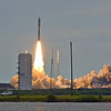 The MUOS-2 Atlas V clears the tower