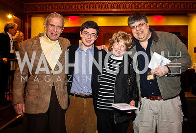 """Sidney Werkman, Nick, Bitsey, and Peter Folger. """"Soundtrack for a Revolution"""" Screening. Photo by Tony Powell. Avalon Theater. March 13, 2011"""