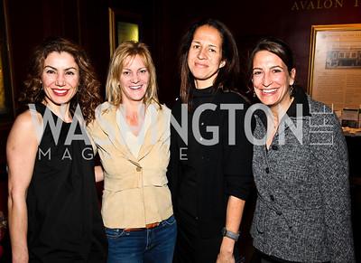"""Sebrina Mladenova, Katharine Weymouth, Carolyn Niles, Andrea Miano. """"Soundtrack for a Revolution"""" Screening. Photo by Tony Powell. Avalon Theater. March 13, 2011"""
