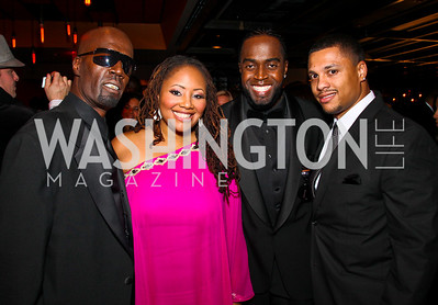 Aaron Hall, Lalah Hathaway, Damion Hall, Jermaine Rucker. BET Honors After Party. Photo by Tony Powell. Cities. January 15, 2011