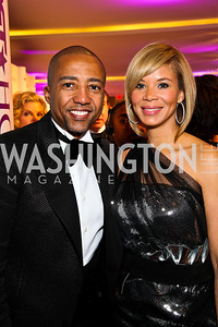Kevin and Erika Liles. BET Honors Red Carpet. Photo by Tony Powell. January 15, 2011