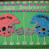 Team Blue and Team Pink baby shower cake for gender reveal