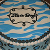 Baby shower cake with animal print