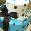 Baby Shower cake with buttercream design and baby blocks