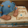 baby rump cake for baby shower