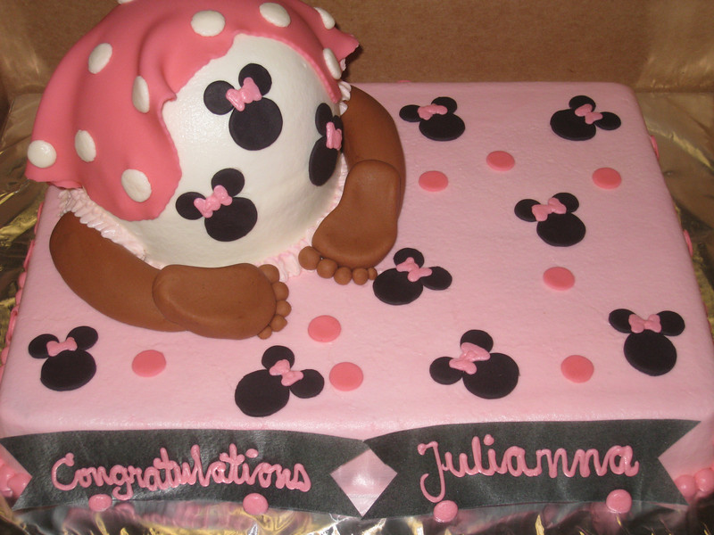 Baby rump cake for Minnie Mouse fan