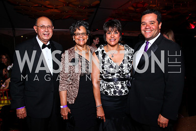Dr. DeMaurice Moses, Charlene Drew Jarvis, Debbi and Ernie Jarvis. Photo by Tony Powell. Ball on the Mall. May 7, 2011