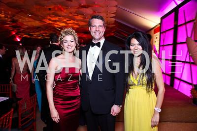 Brianna Keilar, George Rogers, Christina Sevilla. Photo by Tony Powell. Ball on the Mall. May 7, 2011