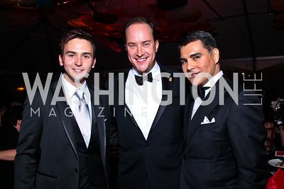 Tommy McFly, David Vennett, Xavier Equihua. Photo by Tony Powell. Ball on the Mall. May 7, 2011