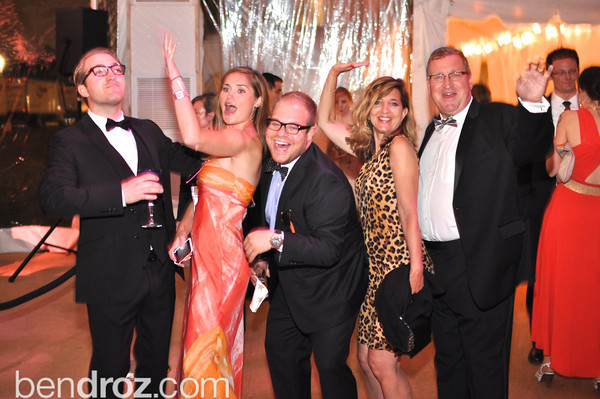 Philip Bermel, Amanda Pittarelli, Rusty Bermel, Marcia Bermel, Brian Bermel.  The annual Ball on the Mall.  Photo by Ben Droz