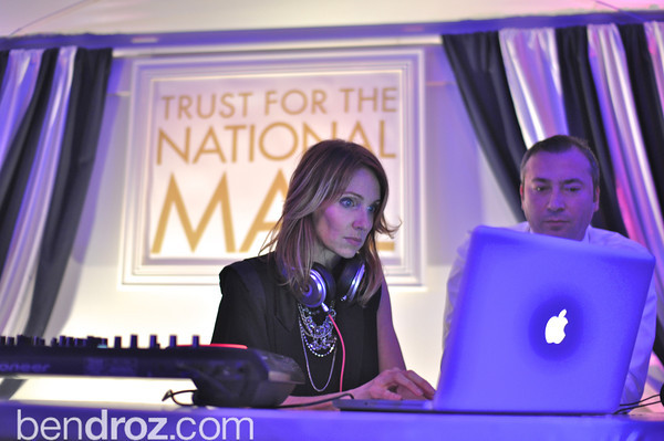 DJ Heather and DJ Menan. The annual Ball on the Mall.  Photo by Ben Droz