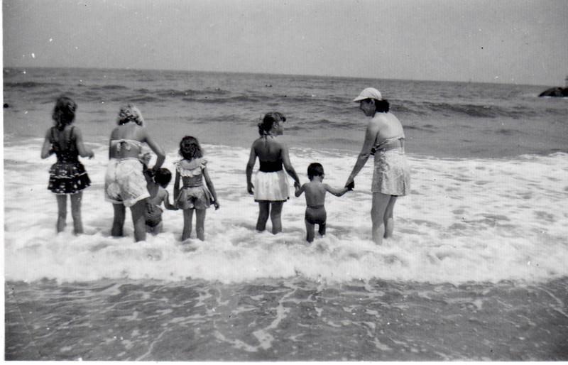 Avon, NJ. Left to right; Barbara Shelly , Pat Rose. Far right Betty Shelly.
