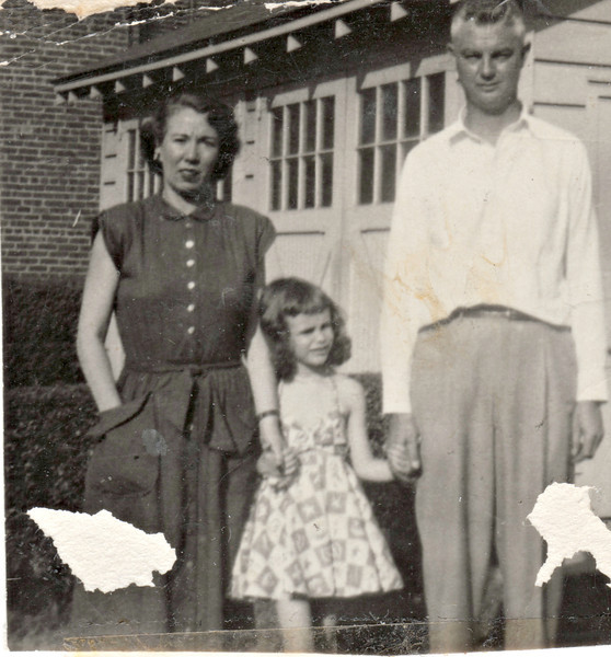 Mommy, Barb and Daddy abt 1950