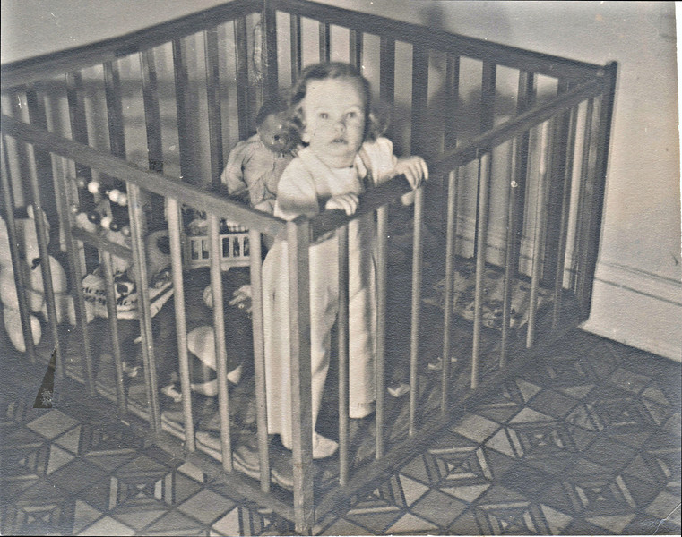 1013 No. Broad St. Elizabeth, NJ. Barb in playpen. Abt 18 mos.