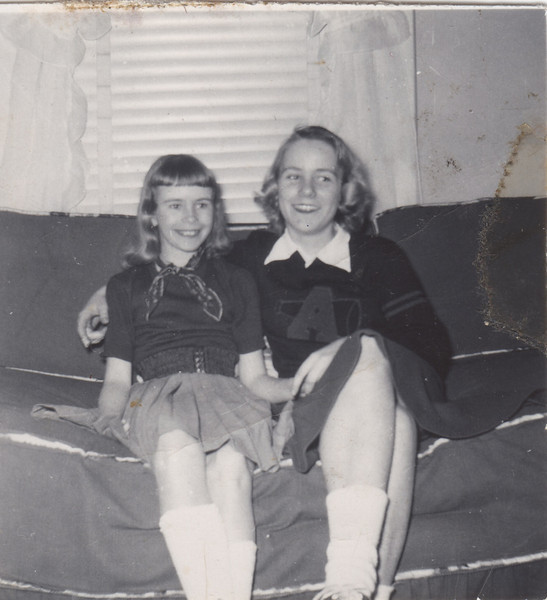 Barbara and cousin Pat 1953